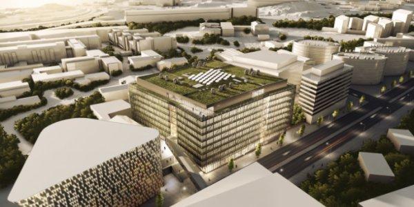 Byggstart för Biomedicum: ca. 80 000 kvm forskningslaboratorier i Solna
