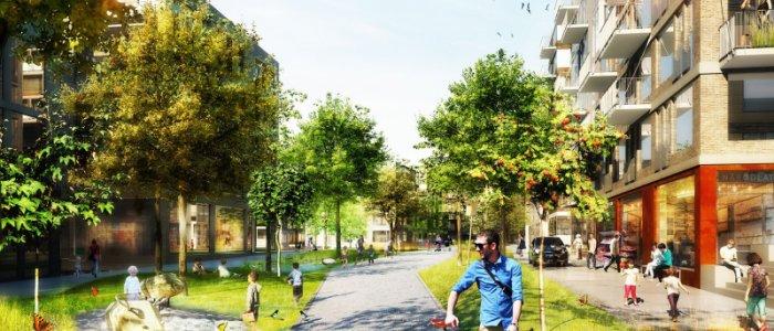 Klimatanpassad stadsplanering - bättre utomhusmiljö i Täby
