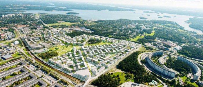Skanska och JM utvecklar Täby park