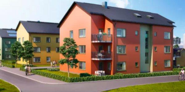 Riksbyggens bygge i Eskilstuna
