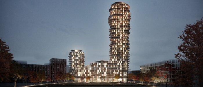 Nytt torn ger 500 bostäder