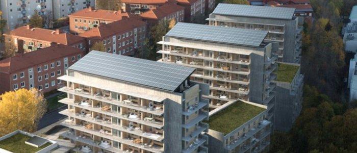 Solceller blir standard i nyproduktioner