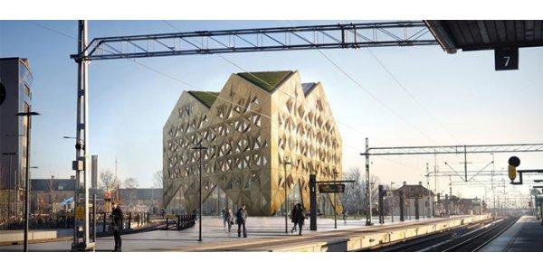 Skanska hyr ut i Uppsalas nya landmärke
