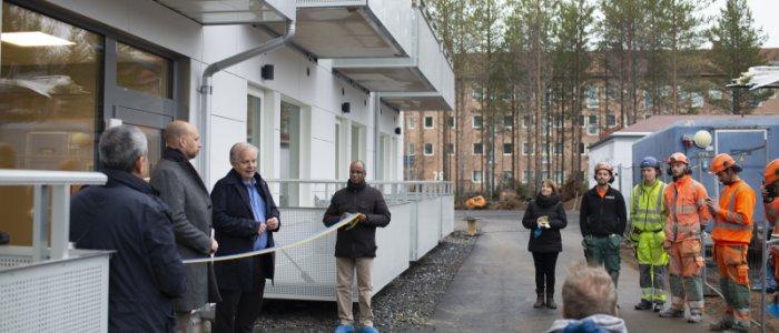 Premiär för Amastens modulhus i Umeå