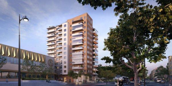 Här byggs Kristianstads högsta bostadshus