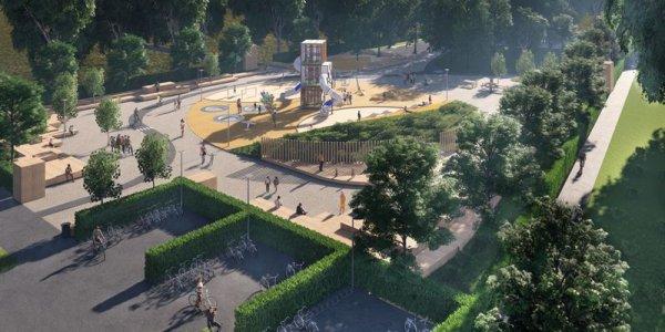 Nu presenteras visionsbilder på Landskronas största lekplats