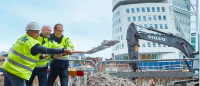 Midroc byggstartar i Malmö
