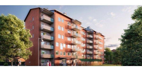 Här bygger NCC 30 nya lägenheter