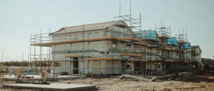 Husbyggandet något starkare än väntat