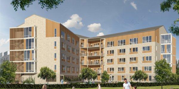 Här bygger Skanska nytt boende i Täby
