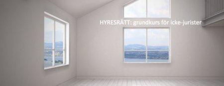 Grundkurs hyresrätt i Stockholm  (På plats & Live via länk)