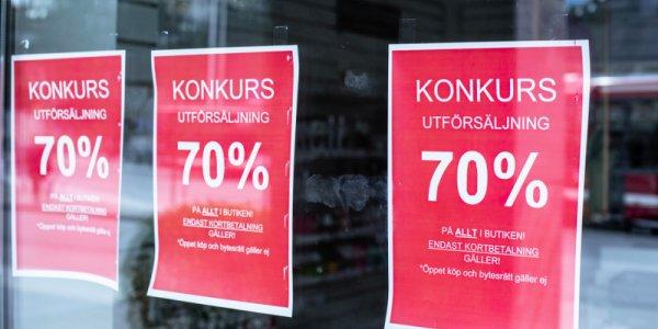 Ingen ökning av konkurser i juli