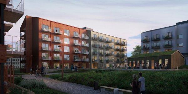 K2A startar nyproduktion av bostäder i Sundsvall