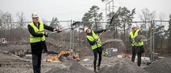 Hebas spadtag i Bredäng taget