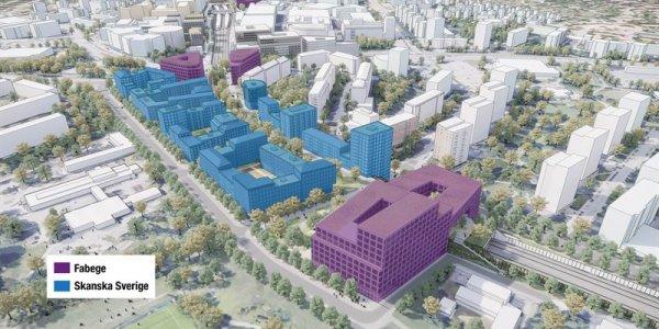 Fabege och Skanska bygger ny stadsdel för 16 miljarder