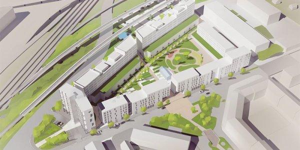 Castellum och HSB utvecklar nytt kvarter i Örebro