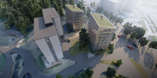 Gazette bygger 157 lägenheter i Universitetsstaden