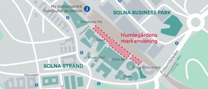 Humlegården: Anvisning om 40 000 kvm i Solna