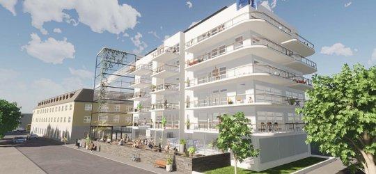 Spa-anläggning och nya bostäder i centrala Karlshamn
