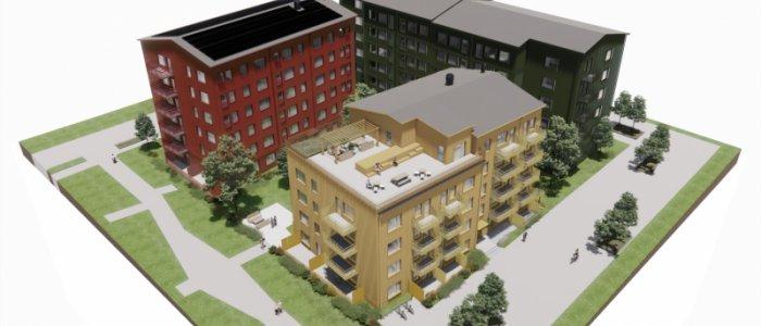 Lindbäcks bygger 162 bostäder åt SBB:s nya koncept