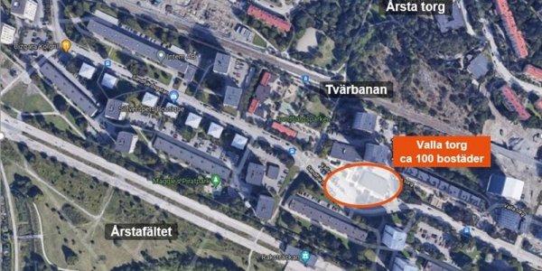 Besqab får markanvisning om 100 bostäder i Årsta